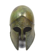 Bronze Helmet ancient Greek small reproduction artifact - $79.99