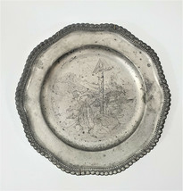 """Collectors Pewter Plate 1932 Tyrolean Wars of Liberty by Matthias Schmid 9-1/2""""  - $95.06"""