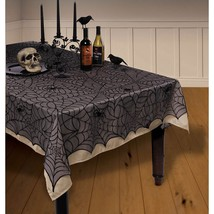 "Midnight Lace Fabric Tablecover  (60"" x 84"" ) Nylon. Halloween Decoration - $24.69"