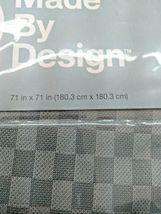 Waterproof Heavyweight Basket Weave Shower Liner Sleek Gray - 71''X71'' GREY  image 8