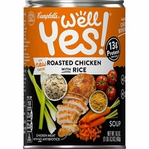 Campbell's Well Yes! Roasted Chicken with Rice Soup 16.3 oz ( Pack of 4 ) - $26.48