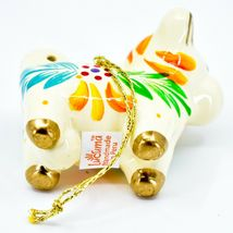 Handcrafted Painted Ceramic White Cow Country Farm Confetti Ornament Made Peru image 5
