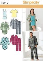 Simplicity Sewing Pattern 2317 Misses' and Men's Sleepwear, A (8 -18 / X... - $19.79