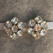 Vintage Trifari 40s Prong Set Rhinestone Bridal Earrings - $30.00