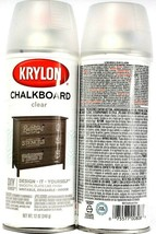 2 Cans Krylon 12 Fl Oz DIY Series 808 Chalkboard Clear Writable Erasable... - $17.99
