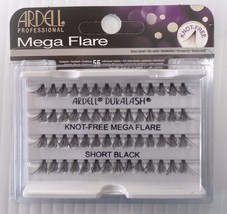 Ardell Eyelash Knot Free Mega Flare Individual Short Black (pack of 4) - $16.99