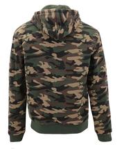 MX USA Men's Army Camo Zip Up Sherpa Hoodie Fleece Hunting Sweater Jacket image 3