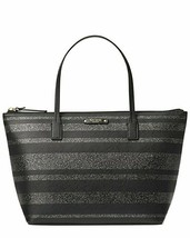 Kate Spade Hani Haven Lane Black Glitter Strap Tote Bag WKRU4787 - $76.22