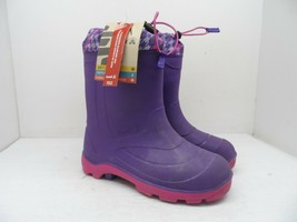 Kamik Girl's Waterproof Cold Weather Rain Snow Boot Purple Size 6M - $56.99