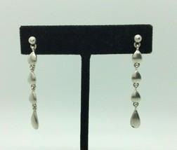 Vintage Monet Silver Tone Dangle Post Earrings - $14.84