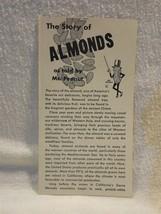 Vintage 1950's Planters Peanut Mr Peanut The Story of Almonds Booklet - $6.95