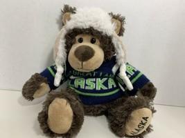 ACE USA Arctic Circle Enterprises Alaska sweater great land teddy bear plush - $9.89