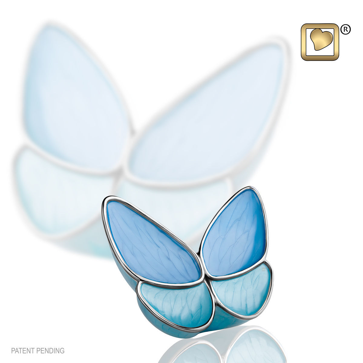 Blue Butterfly Wings of Hope Keepsake Funeral Cremation Urn Ashes,3 Cubic Inches