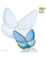 Blue Butterfly Wings of Hope Keepsake Funeral Cremation Urn Ashes,3 Cubic Inches - $48.99