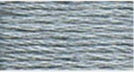 DMC Lt Steel Gray Floss Thread, 318, Cone of 100g, cross stitch, embroidery - $28.49