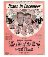 Vintage Sheet Music Roses in December Starring Harriet Hilliard Gene Ray... - $14.99