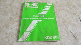 Kawasaki KDX80 Owner's & Service Manual  OEM Used 651 - $9.49