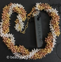 NWT 100% Authentic J.Crew Twisty beaded Mixed Metal necklace $118 - $49.99