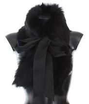 Dolce & Gabbana Black Lambskin Fur Silk Scarf 1541 - $660.99