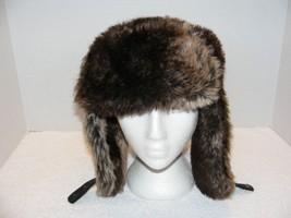 H&M UNISEX MULTI BROWN FAUX FUR TRAPPER HAT GUC - $24.99