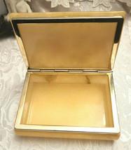 Vintage Himark Giftware Hinged Floral Design Genuine Alabaster Trinket Box Italy image 2