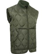 Quilted Lightweight Woobie Vest Poncho Liner Inspired Zip Up Sleeveless - $29.99