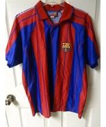 Vintage FC Barcelona Fussball Fußball Trikot Herren XL Offiziell Handels... - $67.99