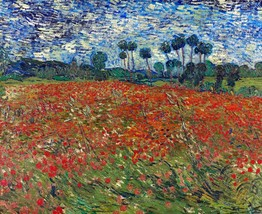 Poppy Field Painting by Vincent van Gogh Art Reproduction - $32.99+