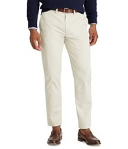 Nwt Polo Ralph Lauren Men's 34x30 White Classic White Flat Front Chino Pants - $54.40