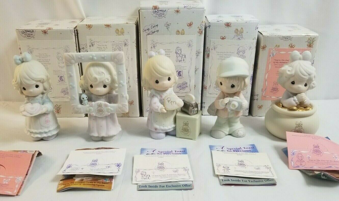 Primary image for 1994-1998 PRECIOUS MOMENTS Lot of 5 Collectors Club PM Lot 25