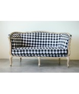 Anthropologie Style French Country Black & White Buffalo Check Sofa-Sett... - $1,632.51