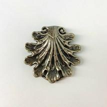 """Vintage Art Nouveau Style Jeri Lou Signed Silver Tone Scarf Clip 1 3/4"""" x 1 3/4"""" - $13.18"""