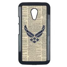 Air Force Motorola Moto G case Customized premium plastic phone case, design #3 - $10.88