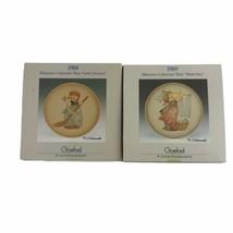 Goebel Hummel Little Homemakers 1988 And 1989 Miniature Collector's Plat... - $26.01