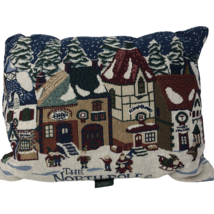 Dept 56 Christmas Tapestry Pillow North Pole Series Village Shops 15 x 11 - $23.74