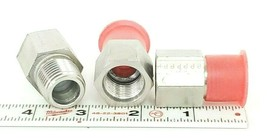 BOX OF 3 NEW PARKER 1/2-8 FHG5-S MALE NPT/FEMALE SAE FITTINGS image 2