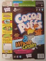 Empty GENERAL MILLS Cereal Box 2005 Cocoa Puffs 19.5 oz  [G7C1k] - $9.57