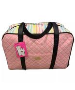 NEW Betsey Johnson Weekender Pink Black White Hearts Duffel Bag Luggage ... - $75.00