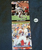 John Elway #7 Denver Broncos and Dan Reeves Trading Cards AA-19FTC3005a Vintage image 2