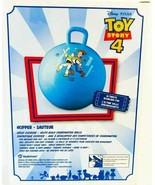 Toy Story 4 Kids Hopper Ball With Handle Blue Buzz and Woody Disney Pixa... - $19.96