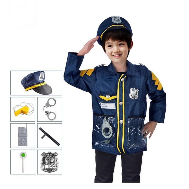 Quliaty Kids Cosplay Sam Fireman Costume Child Christmas Halloween Firefighter