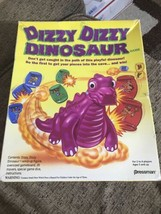 RARE Dizzy Dizzy Dinosaur Board Game Pressman 1993 Used. Wind-up Figure ... - $18.37