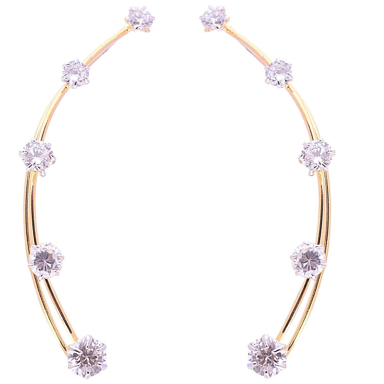 Efulgenz Pack of Cubic Zirconia Cubic Zirconia Stone Earrings for women