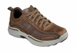 Men's Skechers Relaxed Fit Expended Manden Bicycle Toe Shoe Desert - $111.05