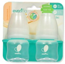 Evenflo Balance + Standard Neck Baby Bottles 2 oz Pack of 2 Preemies NIB - $16.50