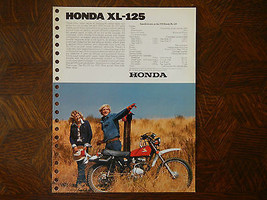 76 Honda XL125 Nos Oem DEALER'S Sales Feuille Brochure XL 125 - $94.23
