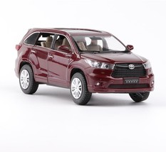 1:32 Toyota Highlander 2018 SUV Alloy Diecast Car Model Toy White/Black/Red/Gray - $29.99
