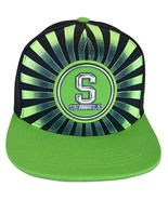 Seattle Men's Striped Cotton Patch Style Adjustable Snapback Baseball Ca... - $13.95