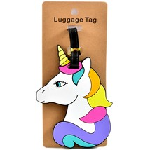 Magical Mythical Unicorn Head Rubber Baggage Luggage Traveling Tag