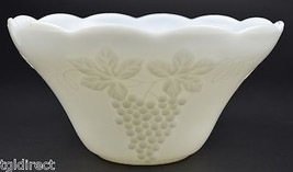 """Anchor Hocking Vintage Milk Glass Pattern Punch Bowl 12"""" W Collectible D... - $45.99"""